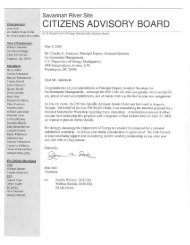 Letter to Charles E. Anderson, Principal Deputy Assistant ... - SRS CAB