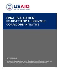 Final Evaluation: USAID/Ethiopia High-Risk Corridors ... - GH Tech