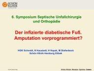 Dr. H. Schmidt, Der diabetische Fuss. Amputation vorprogrammiert
