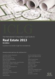 Real Estate 2013. Chapter Spain - Pérez-Llorca