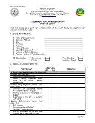 Assessment Tool - DOH