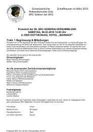 Trakt. 1 Begrüssung & Mitteilungen - Schweizerischer Rottweiler Club
