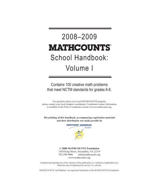 34 MATHCOUNTS 2008 2009