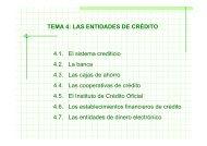 TEMA 4: LAS ENTIDADES DE CRÉDITO 4.1. El sistema crediticio ...