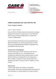 CASE IH präsentiert den neuen AFS Pro 700