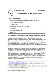 EU Trade with Israeli Settlements - Quaker Council for European ...