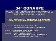 34º conarpe taller de crecimiento y desarrollo del preescolar ii parte ...