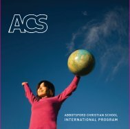 Intl Brochure - English - Abbotsford Christian School