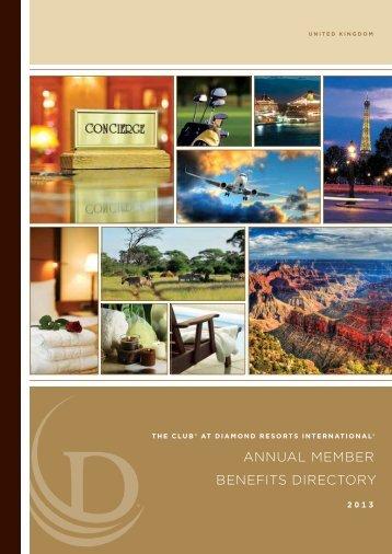 ANNUAL MEMBER BENEFITS dIRECTORY - Diamond Resorts ...