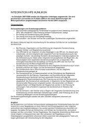 INTEGRATION HPS HUMLIKON – SCHULPFLEGEN - bei der HPS ...