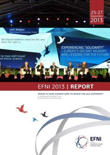 2013 EFNI 2013 | REPORT