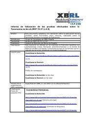 Informe de Valoración de las pruebas efectuadas ... - XBRL España