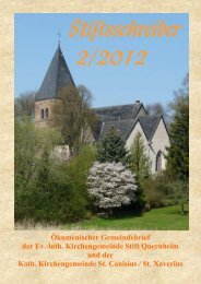 Stiftsschreiber 2/2012 - Ev.-Luth. Kirchengemeinde Stift Quernheim
