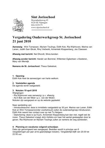 Sint Jorisschool - St. Jorisschool Nijmegen