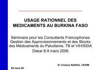 Usage rationnel des médicaments au Burkina-Faso - ReMeD