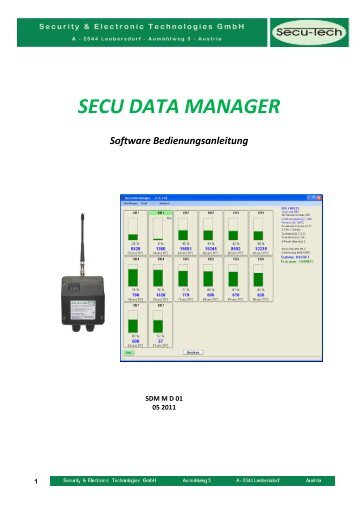 Software Bedienungsanleitung - Security & Electronic Technologies ...