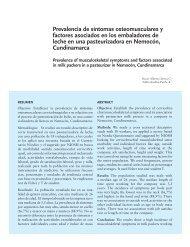 Prevalencia de síntomas osteomusculares y factores asociados en ...
