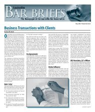 Business Transactions with Clients - Louisville Bar Association