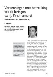 Verkenningen met betrekking tot de leringen van J. Krishnamurti