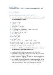 Exercícios de lógica modal de predicados com ... - Desidério Murcho