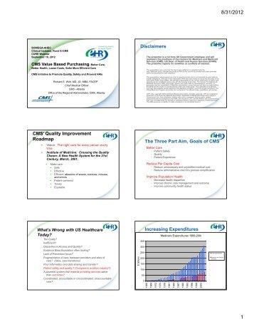 Quality Improvement Roadmap The Three Part Aim ... - sowega ahec