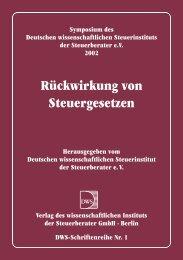 Rückwirkung von Steuergesetzen - Deutsches Wissenschaftliches ...