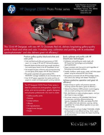 HP Designjet Z3200 Photo Printer series - CAES