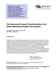 Creating a Recovery-Oriented System of Care - the ATTC Network
