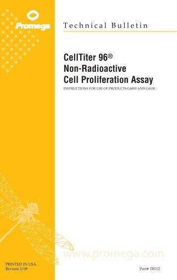 CellTiter 96 Non-Radioactive Cell Proliferation Assay Technical ...