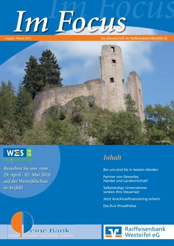 Selbständige Unternehmer/innen - Raiffeisenbank Westeifel eG