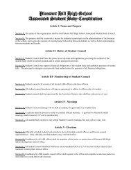 Constitution - Pleasant Hill School District #1
