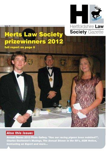 Herts Law Society prizewinners 2012 - Insite Law Magazine