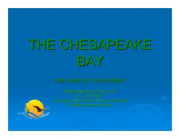 the chesapeake bay - Sully District Council of Citizens Associations