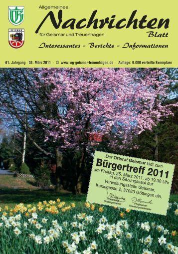 03. März 2011 - Werbegemeinschaft Geismar-Treuenhagen