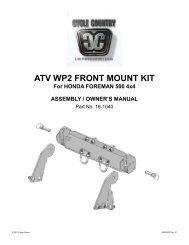 owners manual cc16-1040 - front mount kit hon - Schuurman B.V.