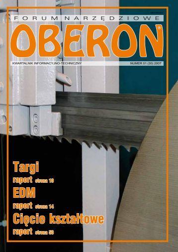 numer 01 (30) 2007 - Forum Narzędziowe Oberon