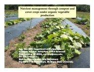 Compost - Organic Farming Exchange - Michigan State University