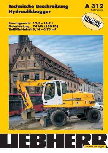 Technische Beschreibung Hydraulikbagger - klimex.cz