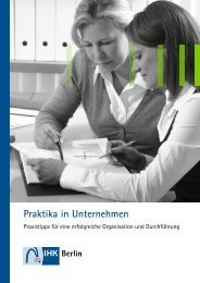 Leitfaden Praktika in Unternehmen - IHK Berlin