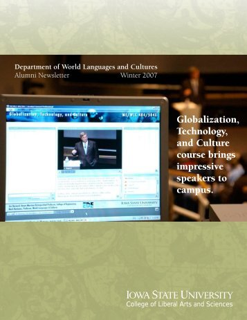 Winter 2007 - Department of World Languages and Cultures - Iowa ...