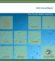 2005 Annual Report - Erie County Water Authority