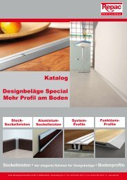 Designbeläge Special Mehr Profil am Boden Katalog - Repac