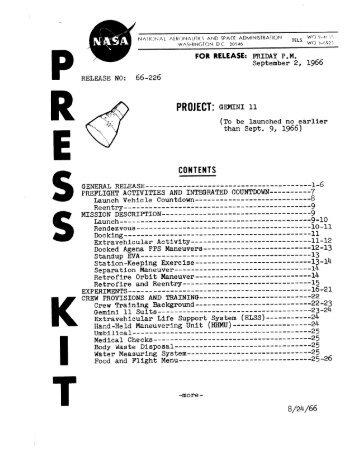 Gemini 11 Press Kit - heroicrelics Mirror