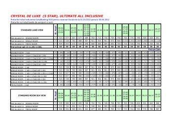 CRYSTAL DE LUXE (5 STAR), ULTIMATE ALL INCLUSIVE - Corali
