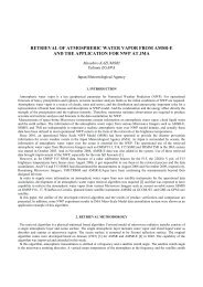 retrieval of atmospheric water vapor from amsr-e and the application ...