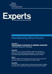 Chief Marketing Officer Practice - Egon Zehnder International