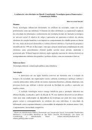 A cultura do voto eletrônico no Brasil: Contribuição ... - Ipea
