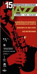 heft zum Download - Internationaler Augsburger Jazzsommer