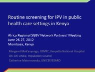 Routine screening for IPV in public health care settings in Kenya