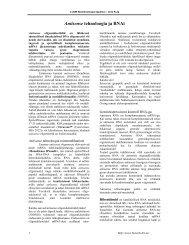 Antisense tehnoloogia ja RNAi